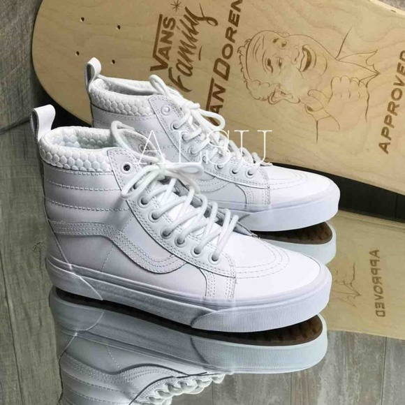 NWT VANS SK8 HI MTE MONO True White W AUTHENTIC NWT